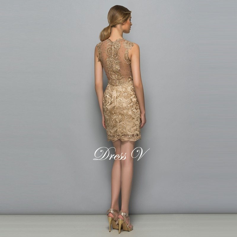 Yellow beaded lace mini cocktail dress scoop neck sleeveless sheath above knee short cocktail dress formal party dress